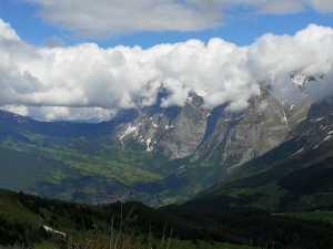 Talblick auf Grindelwald