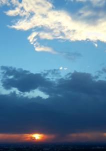 sunset-sky, Turmberg
