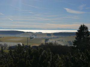 Alpenpanorama mit Wolkenmeer